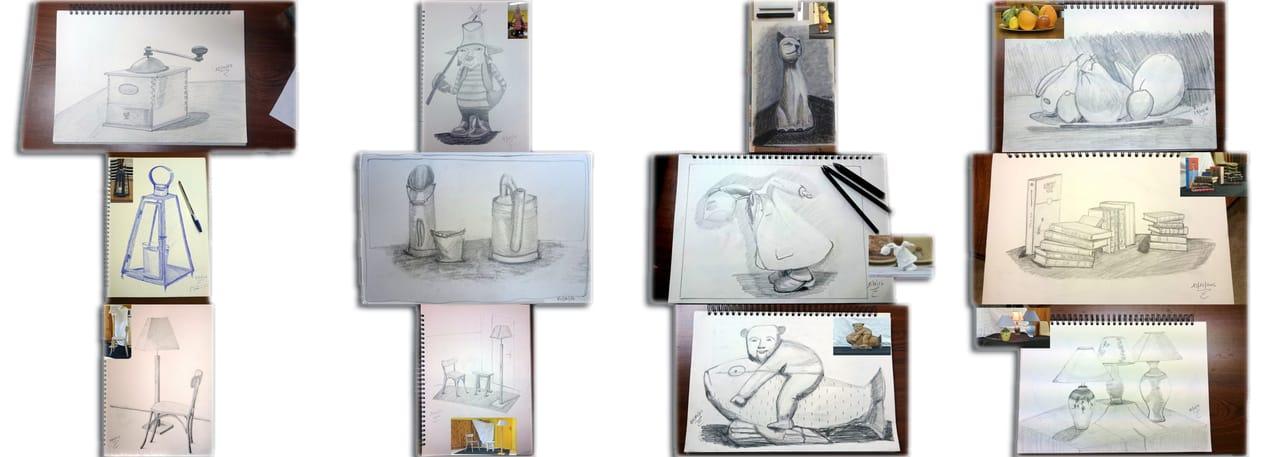 Exercices de dessin, le b.a.-ba