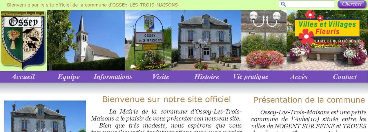 Site officiel de la Mairie d'Ossey-Les-Trois-Maisons