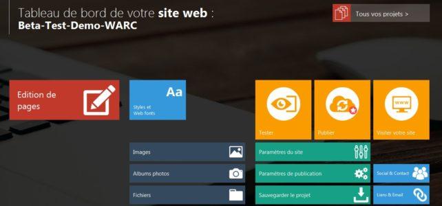 Modèle de Site Web avec WARC