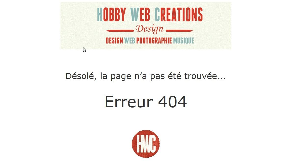 Gestion de l'erreur 404 – Page non trouvée