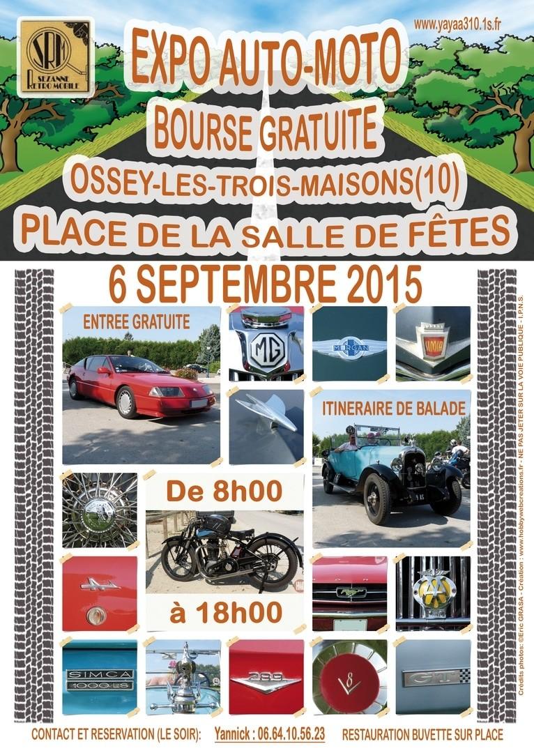 Affiche Expo Auto-Moto Ossey le 6 septembre 2015