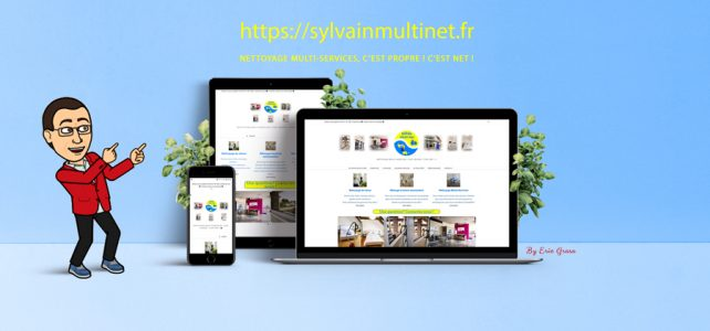 Site vitrine OnePage Sylvain Multi-Net - Hobby Web Creations