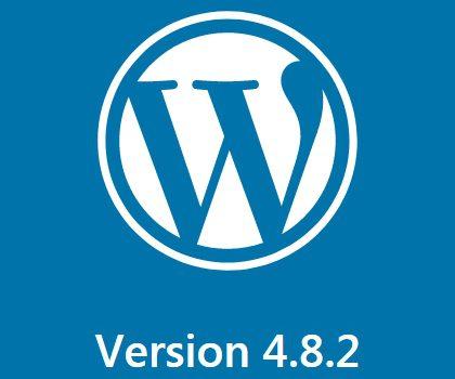 Mise à jour WordPress 4.8.2