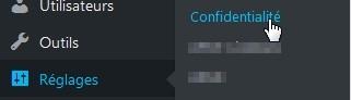 WP 4.9.6 Confidentialité