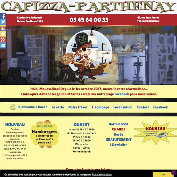 Site Capizza-Parthenay.fr